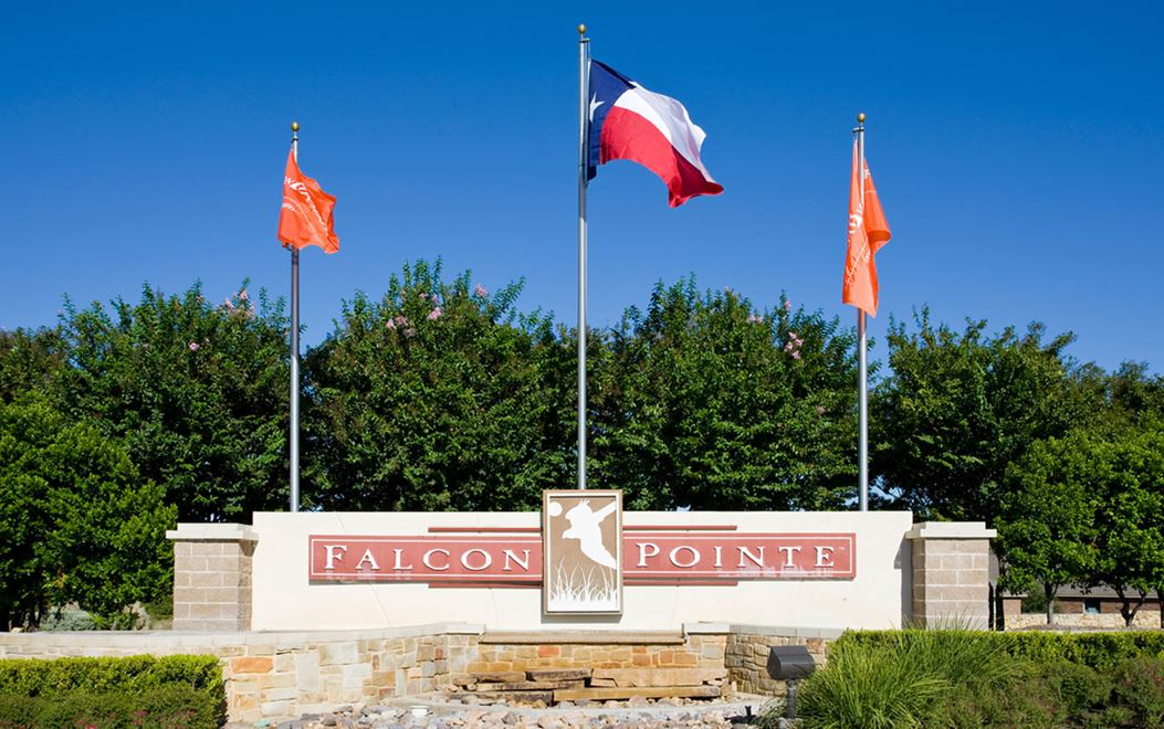 Falcon Pointe community entrance sign