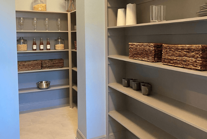 Walk-In Pantry in David Weekley Homes popular Tangelo model