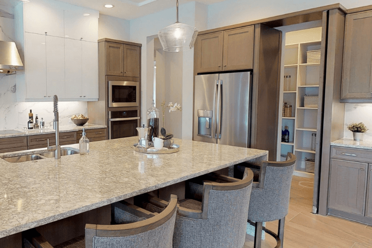 Walk-In Kitchen Pantry in Avalon series of homes by Arthur Rutenberg Homes in Bexley